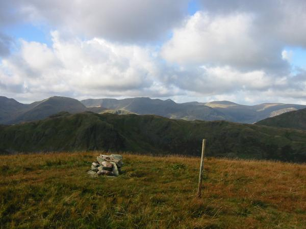 The Helvellyn range from The Nab's summit