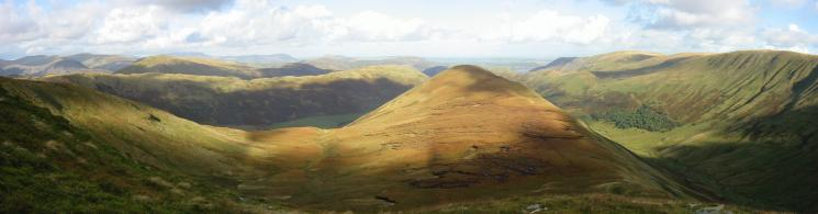Northerly panorama from the climb up Rest Dodd
