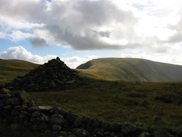 The Straits of Riggindale and High Street from The Knott's summit