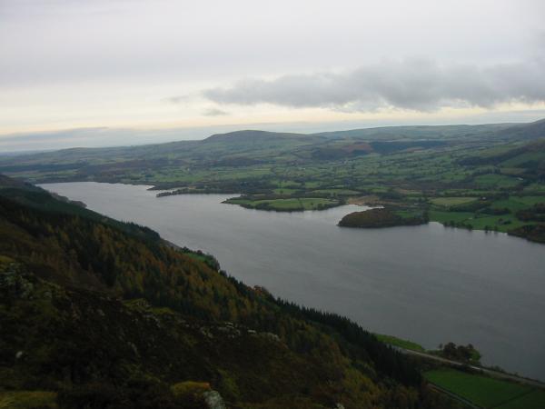 Bassenthwaite Lake and Binsey from Barf's summit