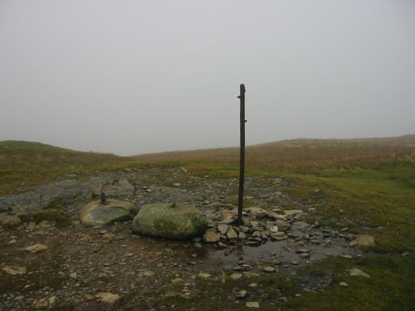 Lord's Seat summit in cloud