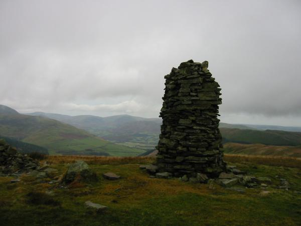 The view towards Lorton Vale from Broom Fell summit