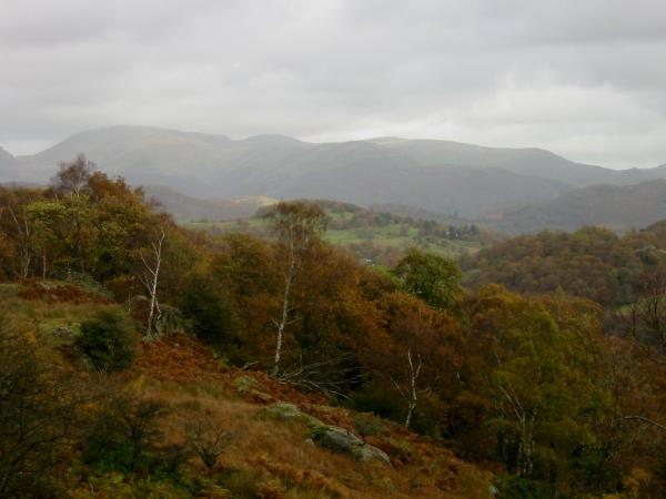 The Fairfield horseshoe from the track across Knotts