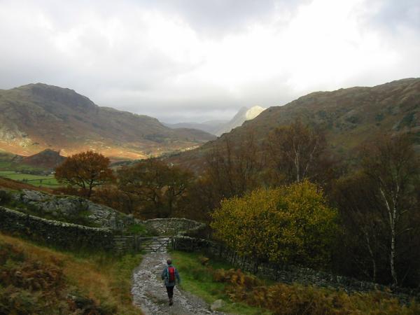 Descending into Little Langdale