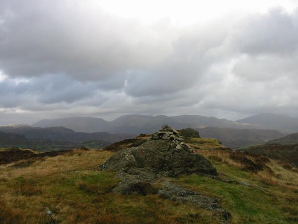 Fairfield from Holme Fell's summit