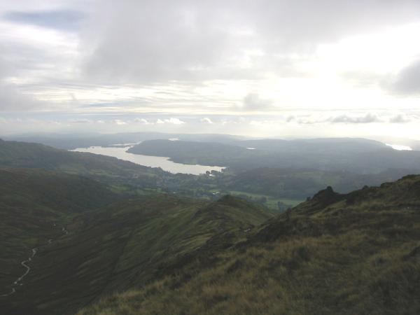 Looking down on Windermere from High Pike