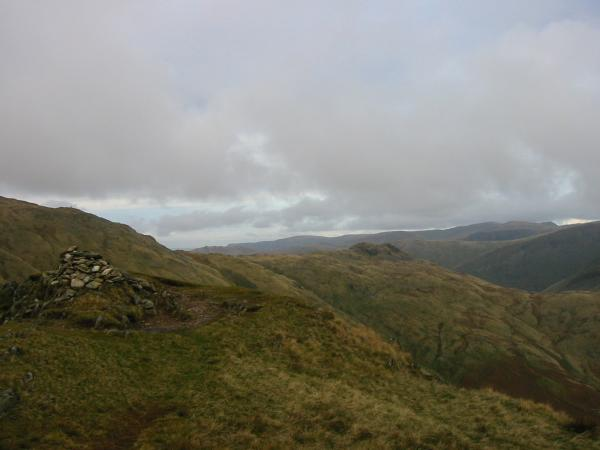 Little Hart Crag and the far eastern fells from High Pike summit