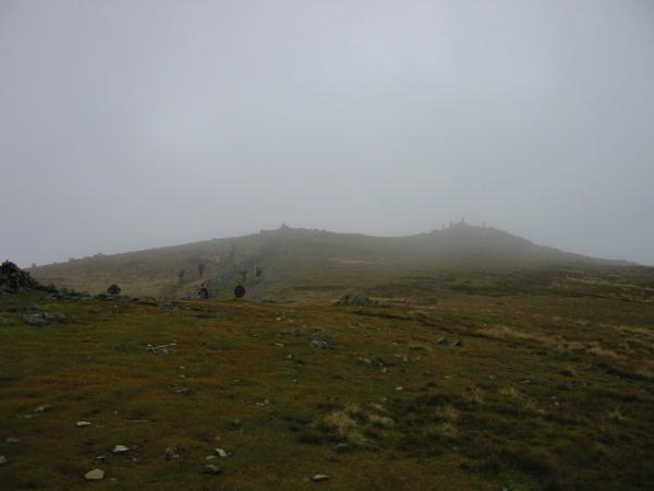 Approaching Dove Crag summit