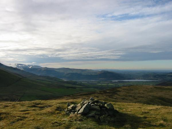 The northwestern fells and Bassenthwaite Lake from the same point