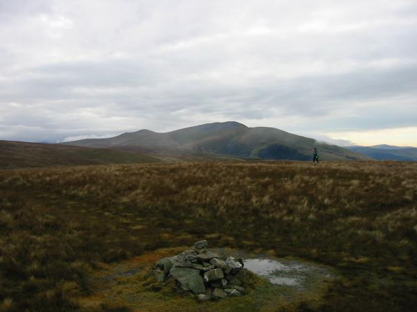 Skiddaw from Great Sca Fell summit cairn