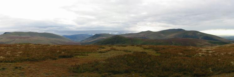 Southerly Panorama (Blencathra to Skiddaw) from Knott's summit