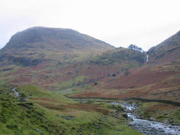 Seathwaite Fell and Taylorgill Force Waterfall