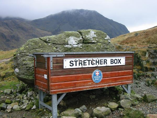 Sty Head Stretcher Box with Lingmell behind