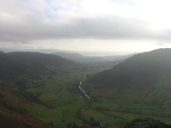 Great Langdale with Windermere in the distance from Pike Howe