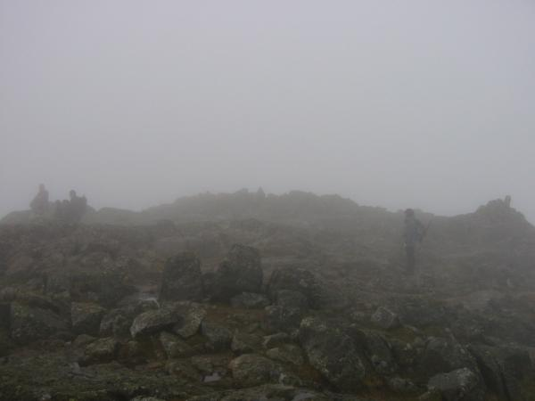 Harrison Stickle summit, no view