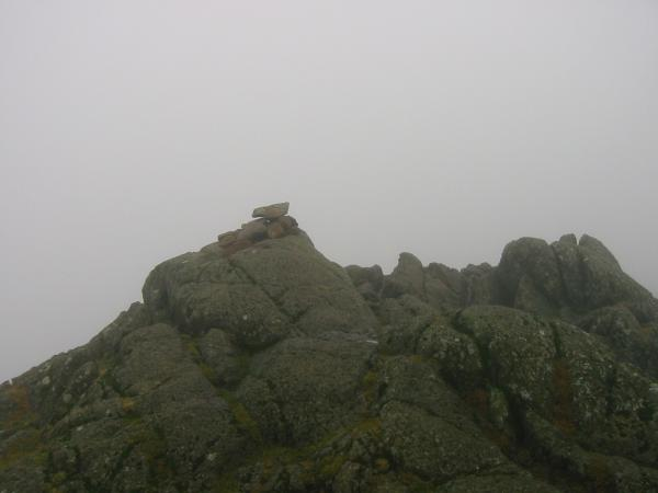 Pavey Ark summit and we are still in the cloud