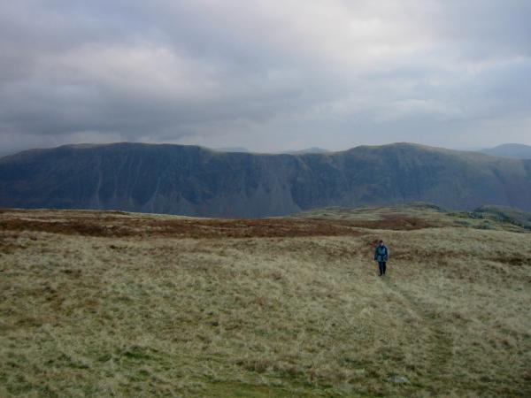 Ascending Seatallan with The Screes behind