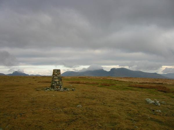 Great Gable and The Scafells from Seatallan's summit
