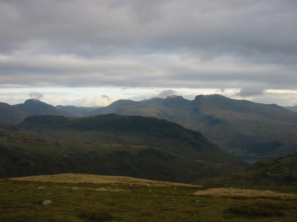 Looking over Yewbarrow to Great Gable and The Scafells