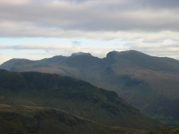 The Scafells, a touch of snow