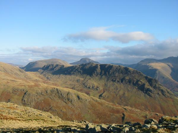 Yewbarrow with Kirk Fell and Great Gable behind
