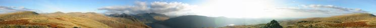 360 Panorama from Middle Fell's summit