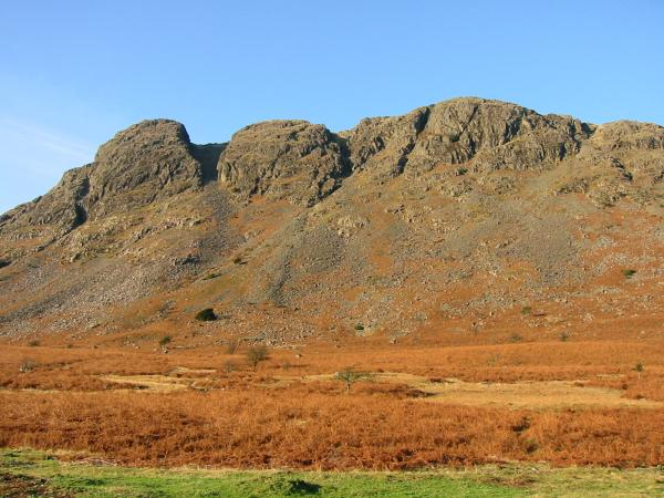 Looking up at Buckbarrow from the road