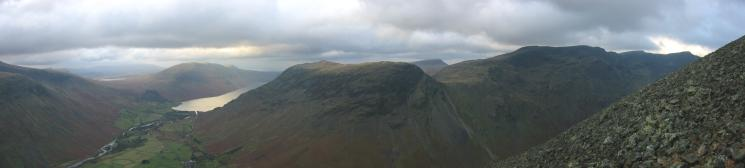 Wasdale, Yewbarrow and Red Pike, taken while climbing