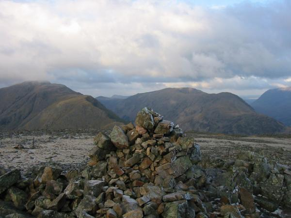 Pillar and High Stile from Kirk Fell's summit