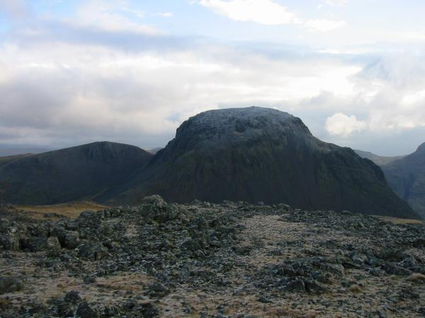 Green Gable and Great Gable from Kirk Fell