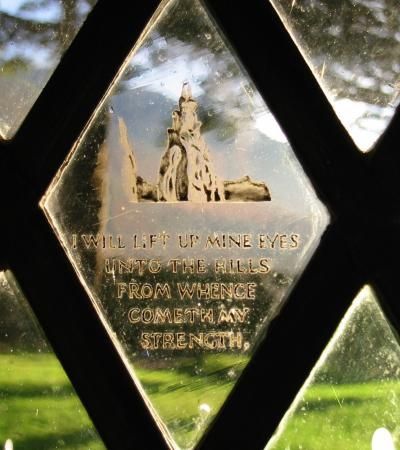 The Fell and Rock Climbing Club Memorial window - 'I will lift up mine eyes unto the hills from whence cometh my strength.'