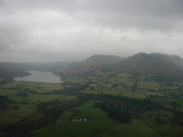 Loweswater, Darling Fell and Low Fell from the climb up Mellbreak