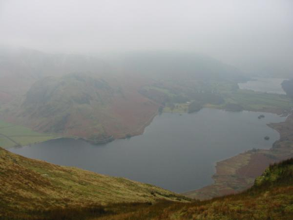 Looking down on Crummock Water and Buttermere