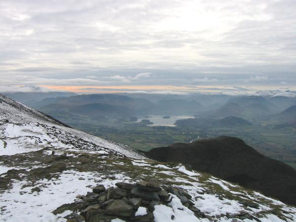 Derwent Water from Ullock Pike summit