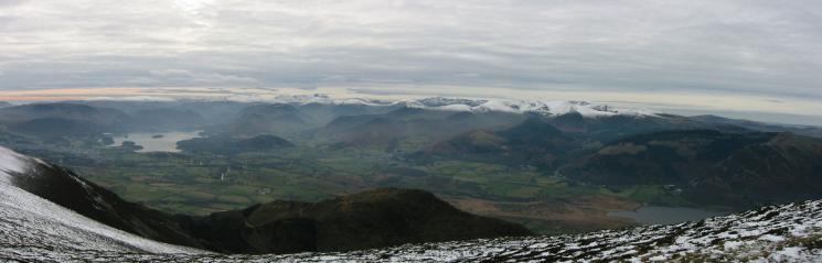 The Northwestern fells from Long Side's summit