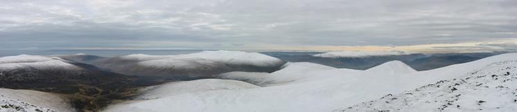 Southwesterly panorama from Skiddaw south's summit