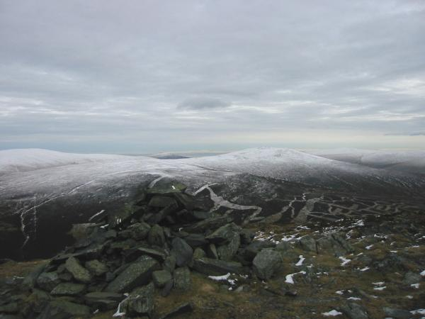 Knott and Great Calva from AW's summit cairn on Bakestall