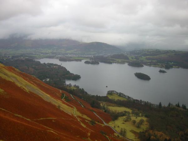 Looking down on Derwent Water