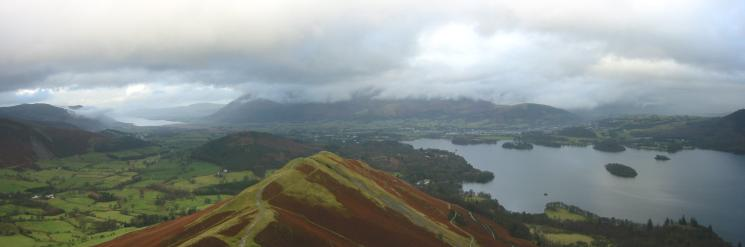 Northerly panorama from Catbells north ridge