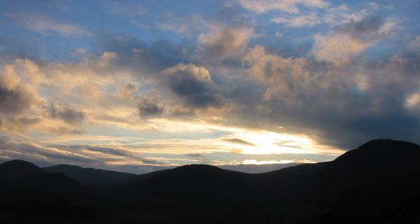 Sunset over the western fells