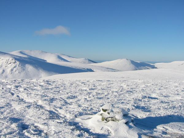 Skiddaw and Great Calva from Bannerdale Crags summit