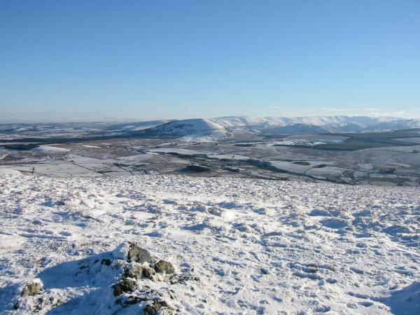 Great Mell Fell and the High Street ridge from Souther Fell's summit