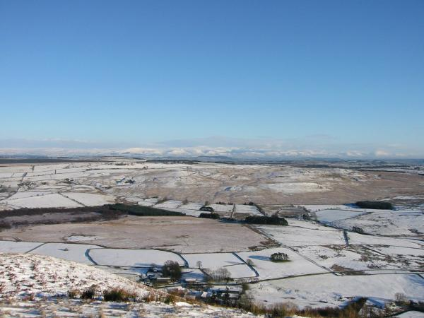 The Vale of Eden and the Pennines from Souther Fell