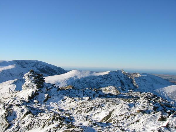 Grasmoor, Sand Hill and Hopegill Head from Grisedale Pike summit