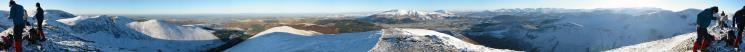 360 Panorama from Grisedale Pike's summit