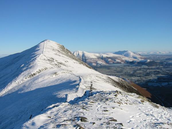Looking back to Grisedale Pike from its subsidiary top