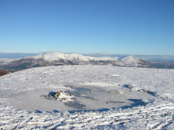 Skiddaw and Blencathra from Sail summit