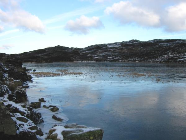 A frozen Dock Tarn