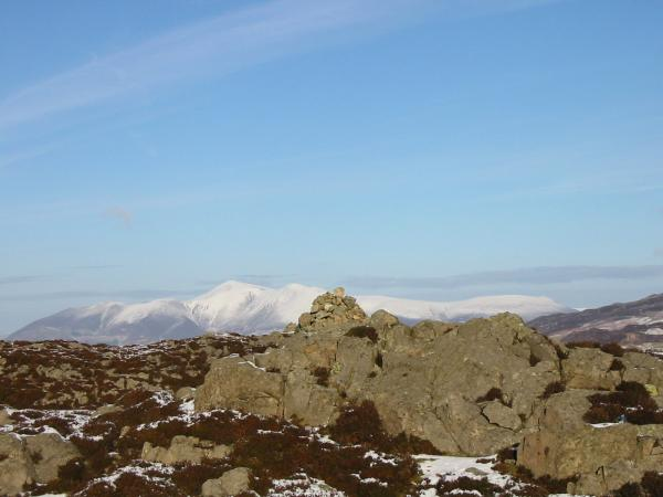 Skiddaw from Great Crag summit