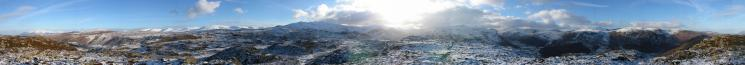360 Panorama from Great Crag's summit